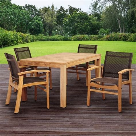 amazonia patio furniture international home amazonia teak 5 patio dining set
