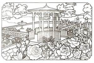 free garden victorian house detailed realistic coloring pages adults printable imgfave