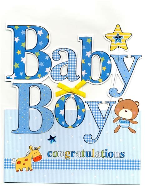 Gift Card Messages For New Baby Boy - large new baby boy congratulations greeting card cards love kates