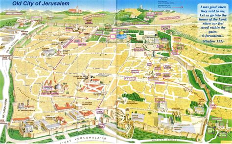 maps of jerusalem jerusalem map city touring route