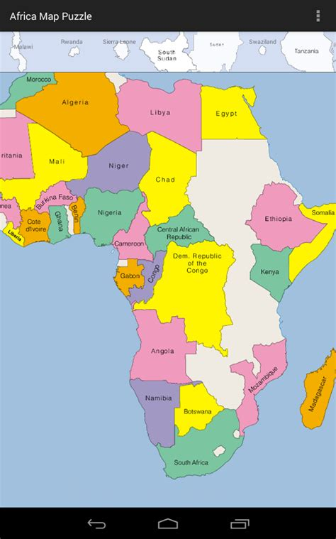 africa map quiz drag and drop africa map puzzle android apps on play