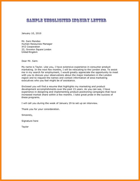 Bank Enquiry Letter Format 5 format of enquiry letter model resumed