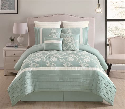 8 piece maris aqua comforter set