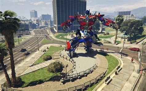 gta 5 ironman mod game free download statues optimus iron man superman more gta5 mods com