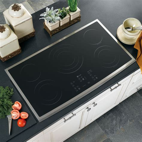 Ge Profile Performance Cooktop ge profile series pp975smss 36 quot built in electric cooktop stainless steel