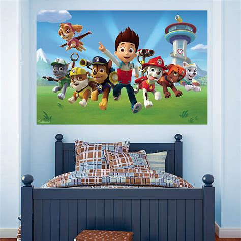 Paw Patrol Room Decor by Paw Patrol Mural Wall Decal Shop Fathead 174 For Paw Patrol