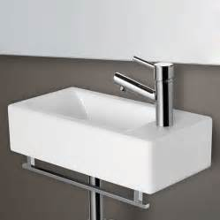 small wall mounted sinks for bathrooms alfi brand ab108 small white modern rectangular wall