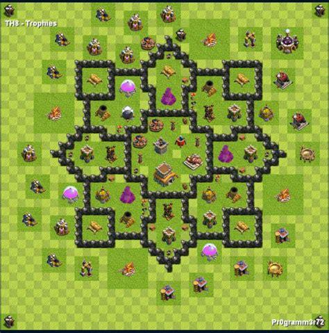 Layout Vila Nivel 8 | centro da vila nivel 8 melhor layout clash of clans dicas