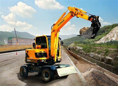 Alat Berat Hyundai Hyundai Excavators R55w 9 Alat Berat R55w 9 Wheeled