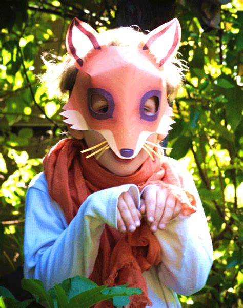 How To Make A Fox Mask Out Of Paper - be a fox in 5 minutes try our free easy fox mask template
