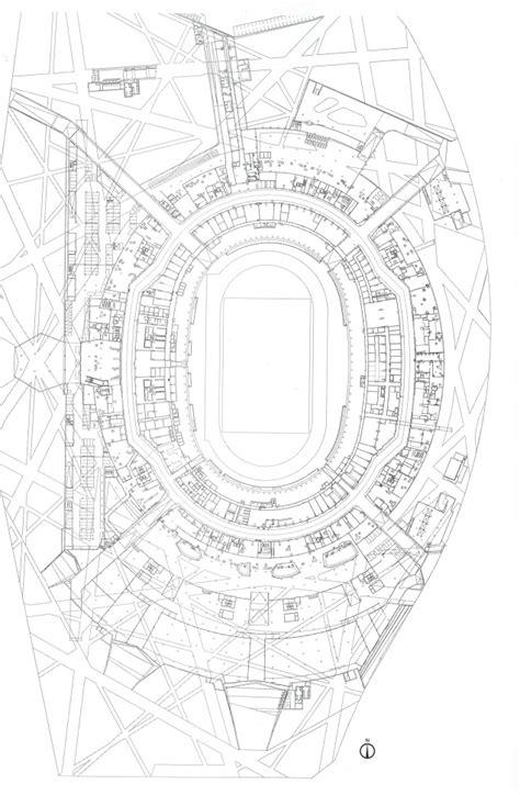 stadium floor plan national stadium in beijing by herzog and de meuron