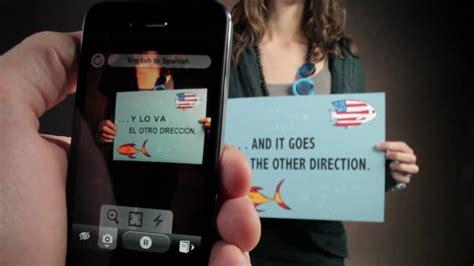 word lens iphone app  traduce  realidad aumentada  reducida