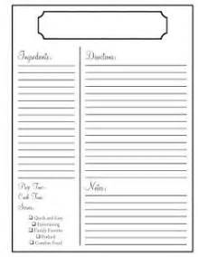 free recipe book templates printable 1000 images about recipe templates on recipe