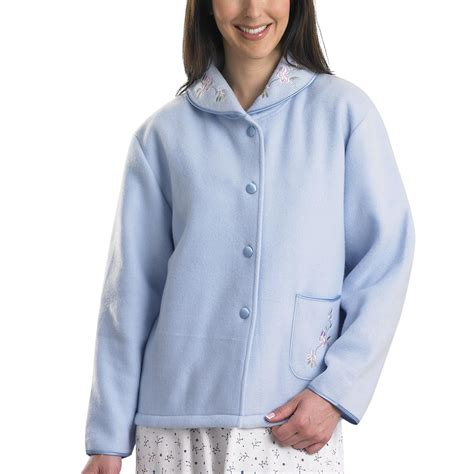 fleece bed jacket womens polar fleece bed jacket slenderella button up