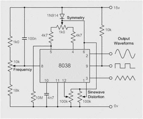 8038 fraquency signal generator circuit diagram wiring