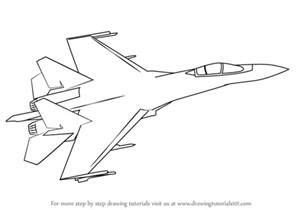 step step draw sukhoi su 35 drawingtutorials101