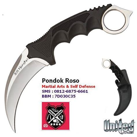 jual kerambit united honshu silver boot sheath