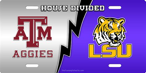 house divided license plate texas a m lsu house divided license plate license plate
