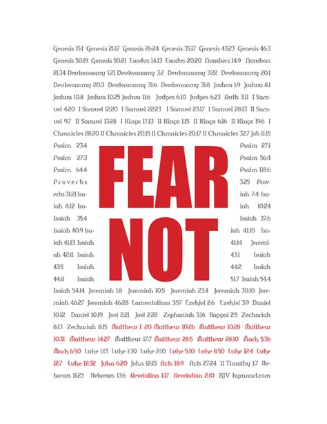 how to a not to be scared so how many times is fear not actually in the bible