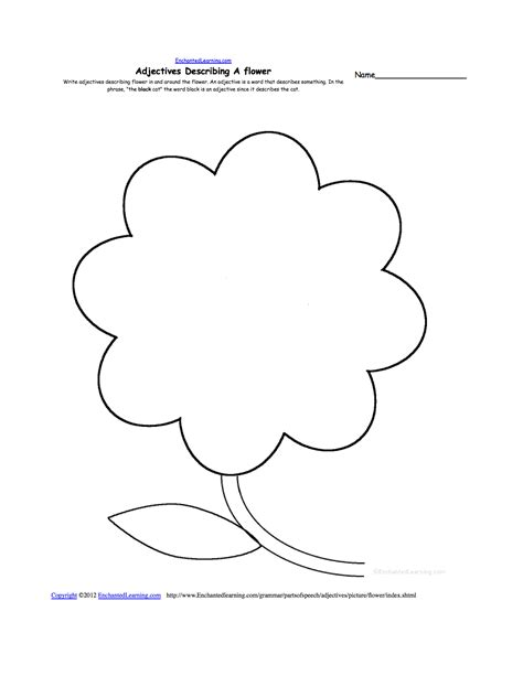 flowers printable worksheets writing worksheets flowers at enchantedlearning com