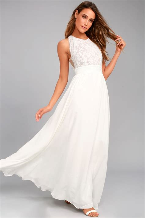 lovely white dress floral lace dress maxi dress