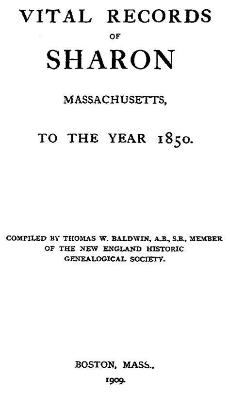 Ma Birth Records Vital Records Of Ma 1765 To 1849 Births