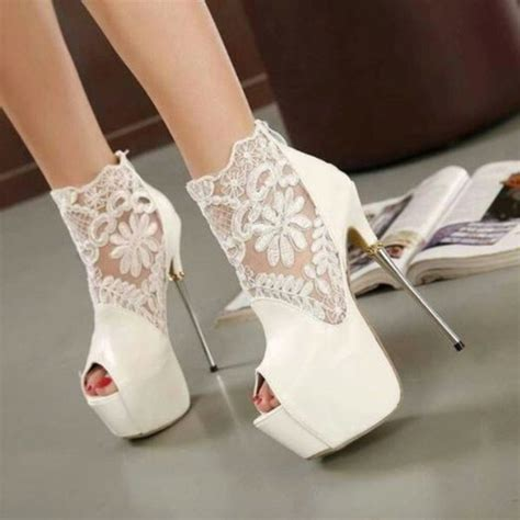 Cutie Bootie Shoes White high heel ankle boots www pixshark images