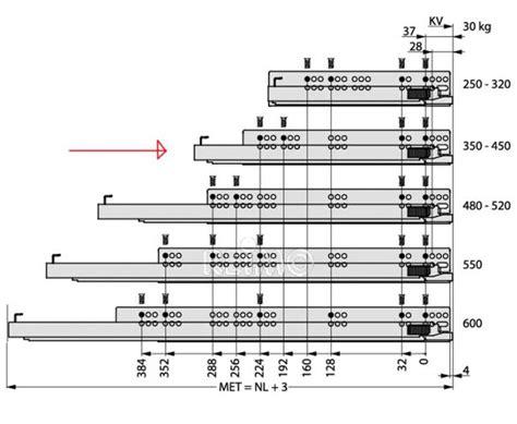 schublade vollauszug schubladen vollauszug 450 mm 53103 reimo
