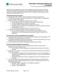 Information Technology Procedure Template torent sle information technology policies and