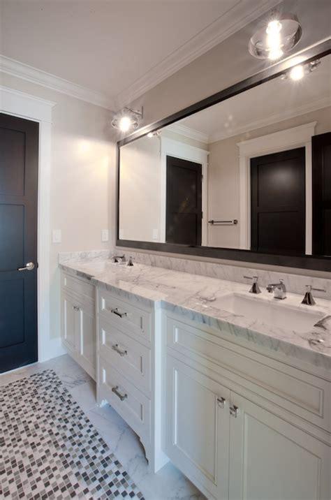 black framed mirror contemporary bathroom spinnaker
