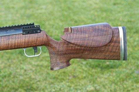 shooting for sale fiddleback claro walnut rifle stock with barnard action
