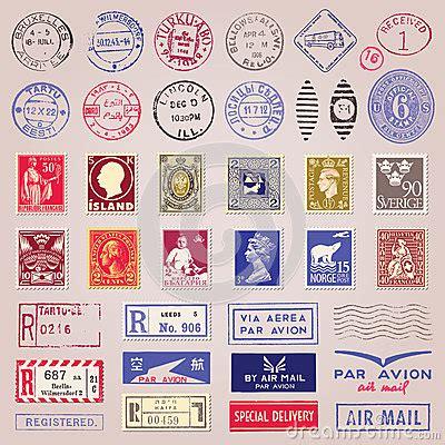 imagenes vintage sellos sellos marcas y etiquetas engomadas del vintage foto de