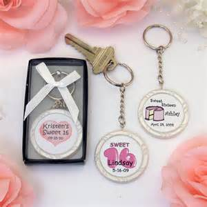 Sweet 16 Personalized Favors by Personalized Sweet 16 Key Ring Favors Wrapwithus