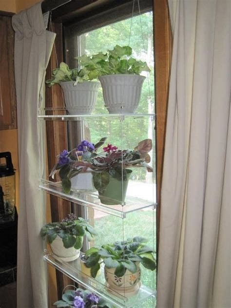hanging window plant shelves  window shelf