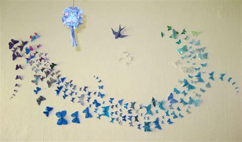 Paper Butterfly Wall Decor by Zr 243 B To Sam Dekorowanie ściany Blog O Dekoracji I