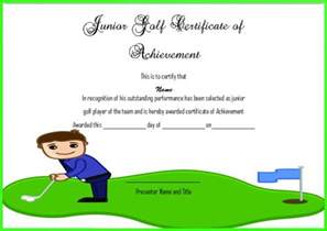 junior achievement certificate template adorable golf certificates for professional players free