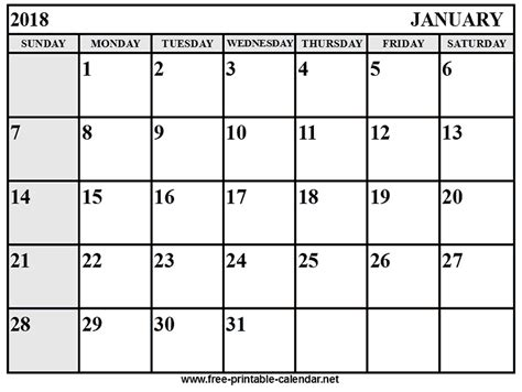 printable daily calendar january 2018 january calendar 2018 download print calendars from