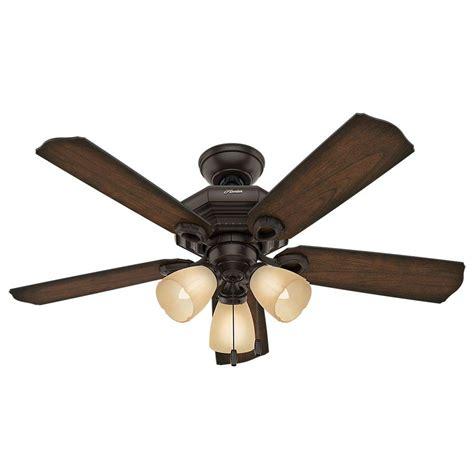 hunter 52 onyx bengal bronze ceiling fan hunter haddington 46 in indoor onyx bengal bronze ceiling