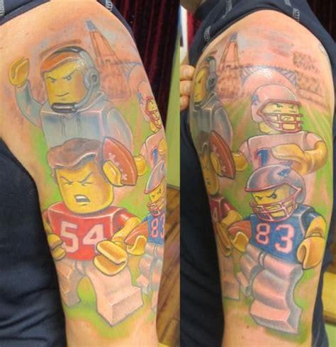 tom brady tattoo wow lego patriots tattoos inked is awesome