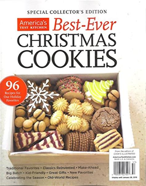 America S Test Kitchen Magazine by America S Test Kitchen Best Cookies Special