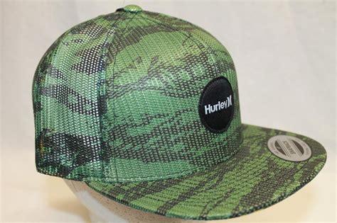 Cap Snapback Green Army Topi Snapback Green Army hurley snapback hat cap krush mesher army green camo olm ebay