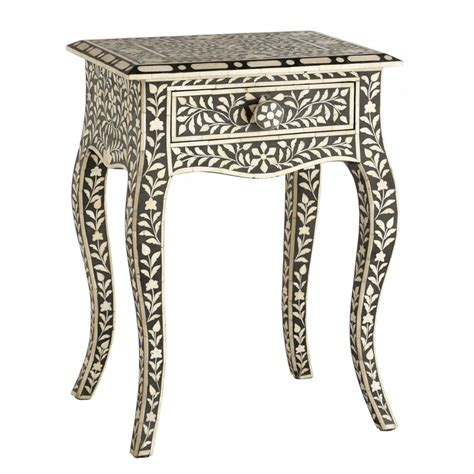 bone inlaid side table side tables some favorites