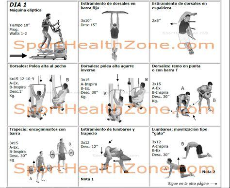 tabla de ejercicios con mancuernas para hacer en casa rutinas de gimnasio ejercicios con pesas