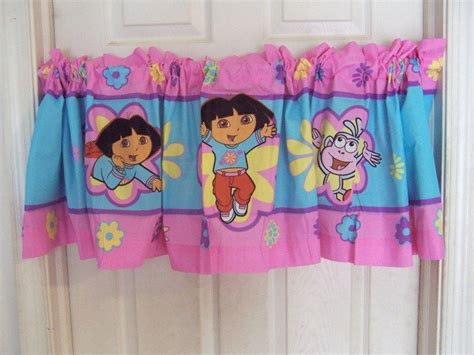 dora the explorer curtains dora the explorer boots the monkey window curtain valance