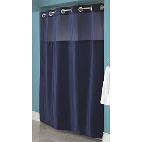 hookless fabric shower curtain with built in liner hookless fabric shower curtain with built in liner navy