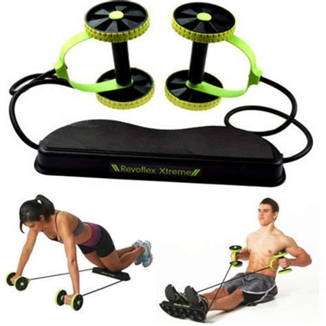 workout unisex gym rope  double ab wheel xtreme
