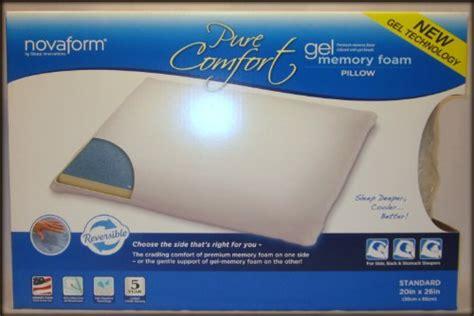 pure comfort gel memory foam pillow special sale novaform pure comfort gel memory foam pillow