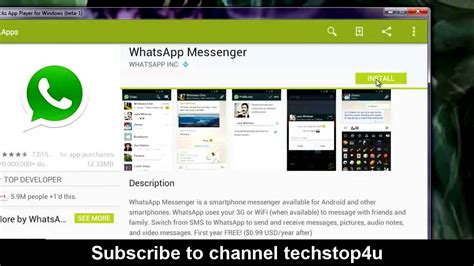 youtube tutorial for whatsapp how to install whatsapp on pc laptop desktop or ipad
