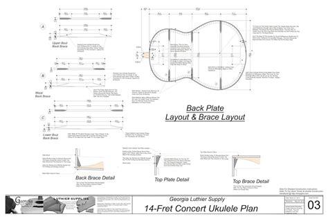 wood working tenor guitar plans
