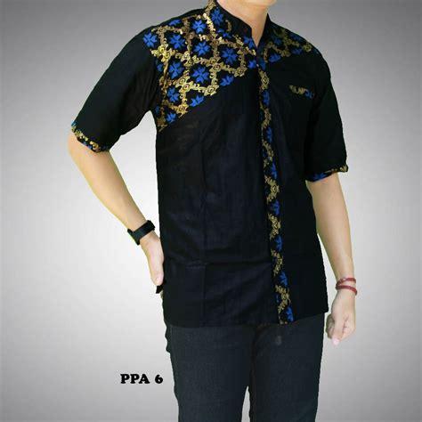 A0683 Kemeja Koko Batik Prada kemeja batik pria kombinasi prada ppa 6 batik prasetyo